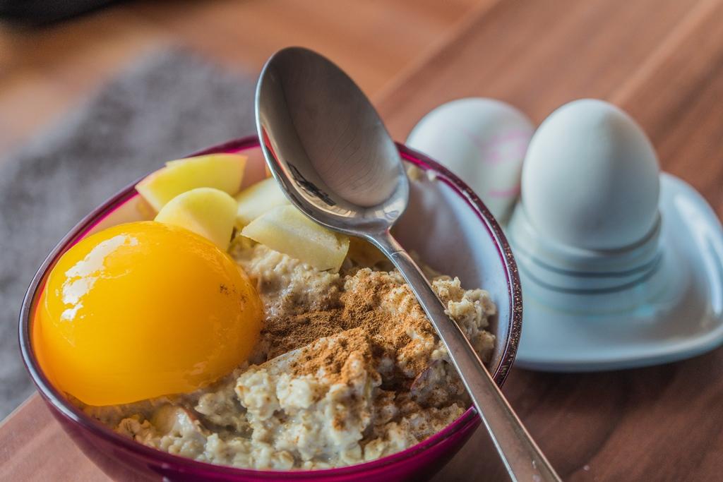 Apfel Pfirsich Porridge