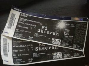 Ed Sheeran Hamburg Tickets