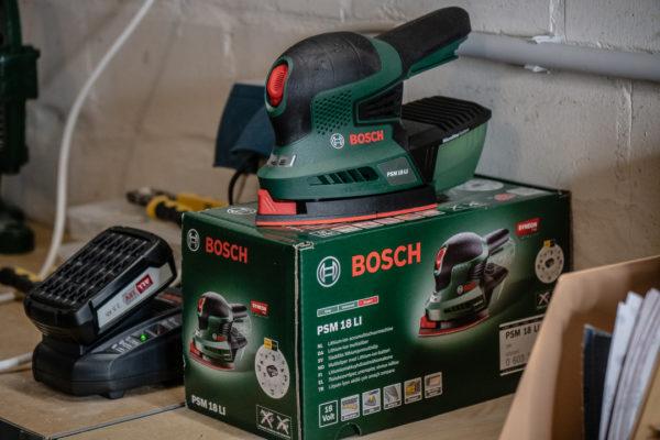 Bosch PSM 18 LI in der Kellerwerkstatt